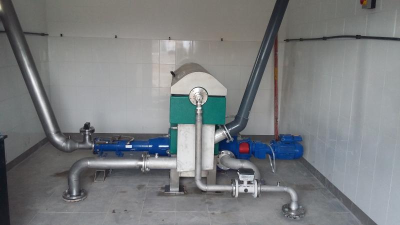 Burncourt centrifuge installation